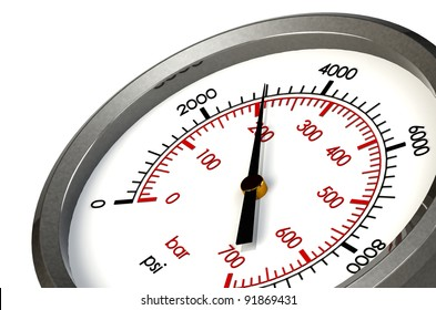 A Pressure Gauge Reading a Pressure of 3000 PSI