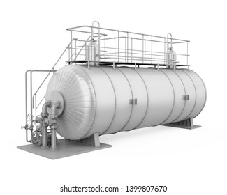 Pressure Vessel Tank Isolated. 3D rendering