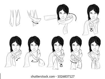 how to wear arab scarf around neck