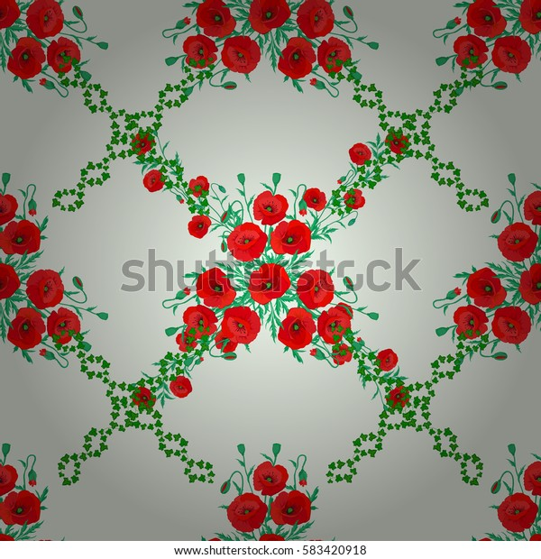Pretty varicolored floral print. Motley floral seamless pattern on a beige background. Abstract flower background.