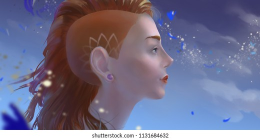 pretty woman.foxy hair.red hair girl.young portrait