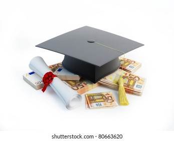 Price Leaving Certificate or training on a white background