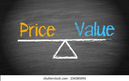 Price and Value - Business Concept
