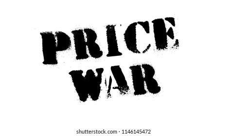 Price war black stamp, sign, label. Black stencil series
