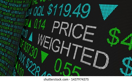 Price Weighted Average Stock Share Business Buy 3d Illustration