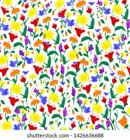 Pride flower pattern wallpaper colerful