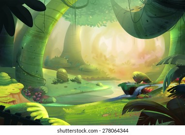 The Primeval Forest - Scene Design