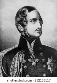 Prince Albert (1819-1861), husband and consort of Queen Victoria of the United Kingdom of Great Britain and Ireland, circa 1850s.