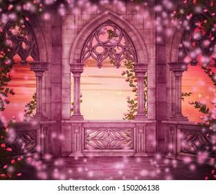 Princess Castle Fantasy Backdrop