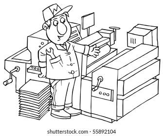 Print worker