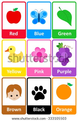 printable flash card colletion colors theirのイラスト素材 333105503