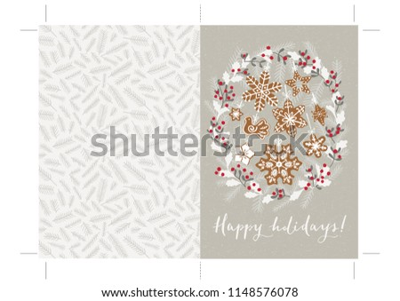 photograph about Happy Holidays Printable Card identified as Royalty Cost-free Inventory Example of Printable Pleased Vacation