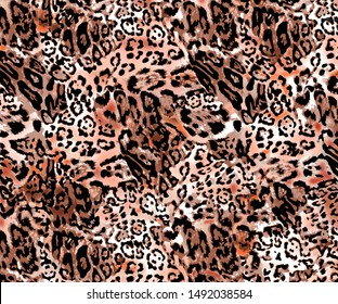Printable High Resolution. The fabric Abstract with Tiger Background, may use as background for textile and digital print - Illustration