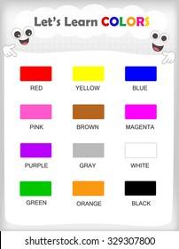 Colors Name Kids Images, Stock Photos & Vectors | Shutterstock
