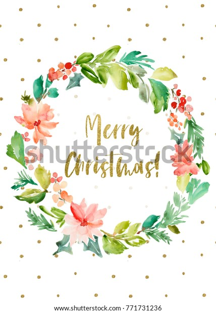 photo regarding Merry Christmas Printable referred to as Printable Merry Xmas Card Heritage Watercolor Inventory