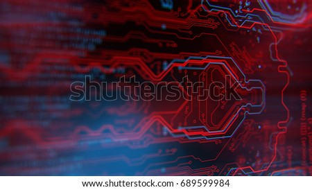 printed circuit board technology wallpaper 3 dのイラスト素材