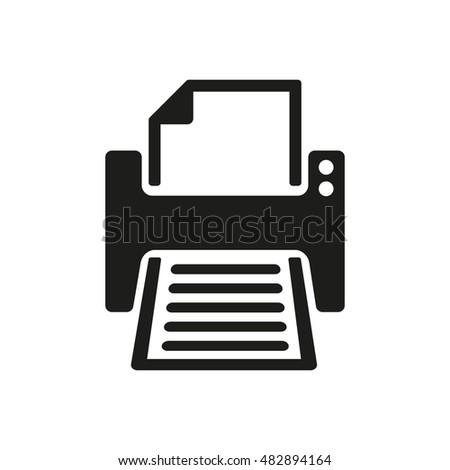 Printer Icon Printing Symbol Flat Illustration Stock Illustration