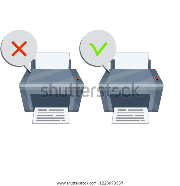 Printer Paper Document File Error Message Stock Illustration