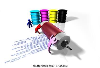Printing process CMYK