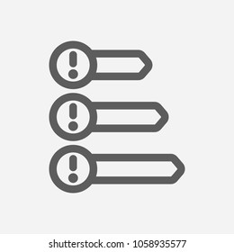 Priorities icon line symbol. Isolated  illustration of  icon sign concept for your web site mobile app logo UI design.