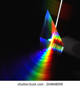 Prism and Light beam