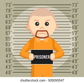 prisoner mugshot background