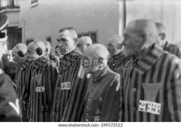 Prisoners in the concentration camp at Sachsenhausen, Germany, Dec. 19, 1938. Located 22 miles north of Berlin, it was near administrative center of all the Nazi concentration camps in Oranienburg.