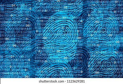 Privacy user data as an abstract personal private information security technology as a social media and public profile sharing of lifestyle as diverse fingerprints in a 3D illustration style.