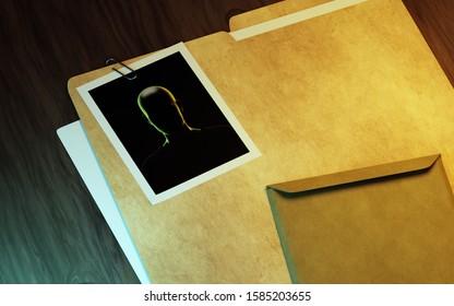 Oficina de investigadores privados. Ilustración 3d