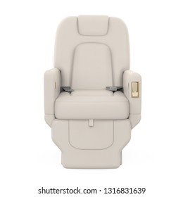 Private Jet Seat Isolated. 3D rendering