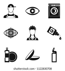 Pro icons set. Simple set of 9 pro icons for web isolated on white background