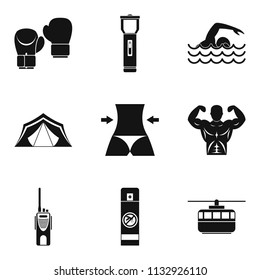 Pro sport icons set. Simple set of 9 pro sport icons for web isolated on white background