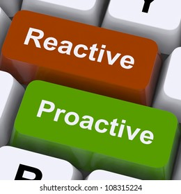 Proactive And Reactive Keys Showing Initiative And Improvement