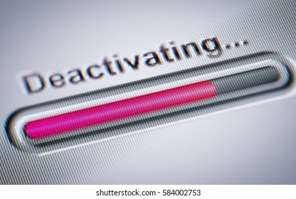 Process of Deactivating on the screen.