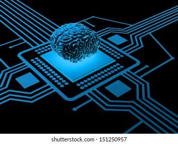Processor and human brain