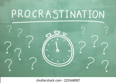 Procrastination on blackboard
