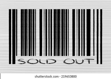 product  bar code design with marketing promotional offer sold out