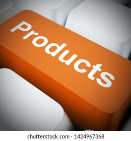 Product concept icon means commodity or merchandise for sale. Cargo or manufactured goods being ordered - 3d illustration