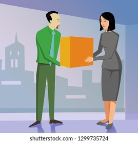 Product delivery handover