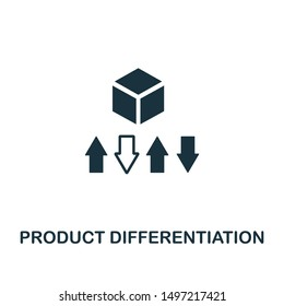 Product Differentiation icon. Creative element design from content icons collection. Pixel perfect Product Differentiation icon for web design, apps, software, print usage.