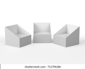 Product display from different angles. 3D rendering