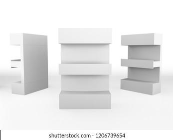 Product Display Shelf. 3D render