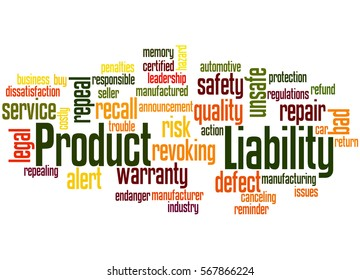 Product Liability, word cloud concept on white background.