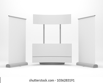 Product Promotion Kiosk Or Stand. 3D render