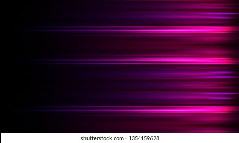 Product showcase spotlight background. Clean photographer studio. Abstract  Violet background with rays of neon light, spotlight, reflection on water.