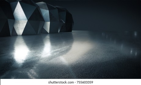 Product showcase spotlight background,Abstract empty space.3D rendering