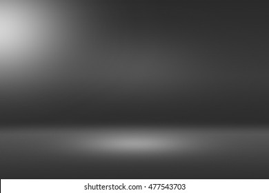 Product Showscase Spotlight Background - Crisp and Clear Infinite Horizon Dark Floor - Stage for Modern Clean Minimalist Scene Design, Wide-Screen in High Resolution
