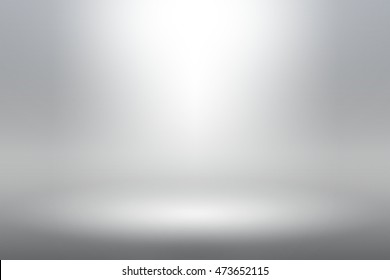 Product Showscase Spotlight Background - White Clear Photographer Studio - Light Scene for Modern Clean Minimalist Design, Wide-screen in High Resolution