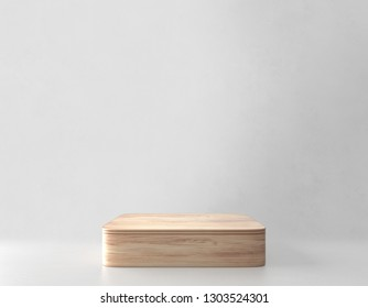 Product stand, Wooden Texture. 3D Rendering
