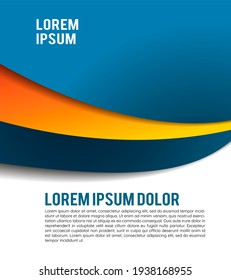 Professional business design layout template or corporate banner design. Magazine cover, publishing and print presentation. Abstract background.